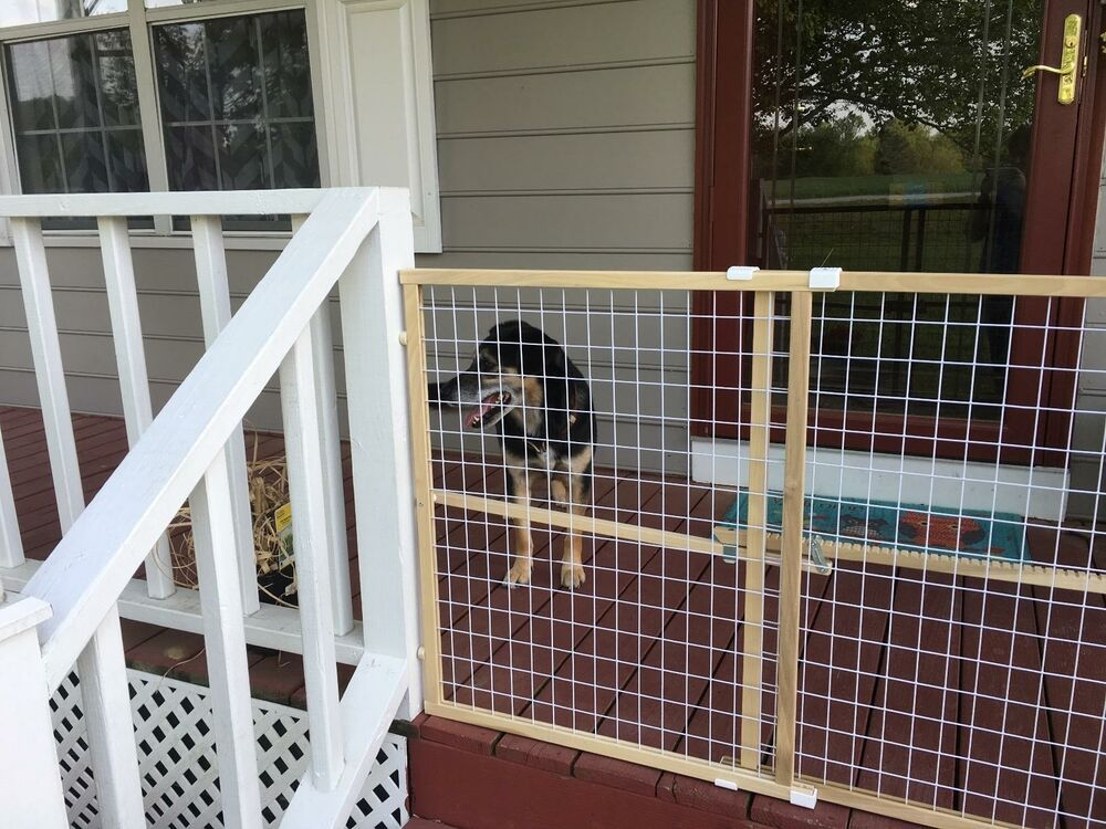 """50"""" Wide Wire Mesh Safety Baby Gate Door Guard Fence"""