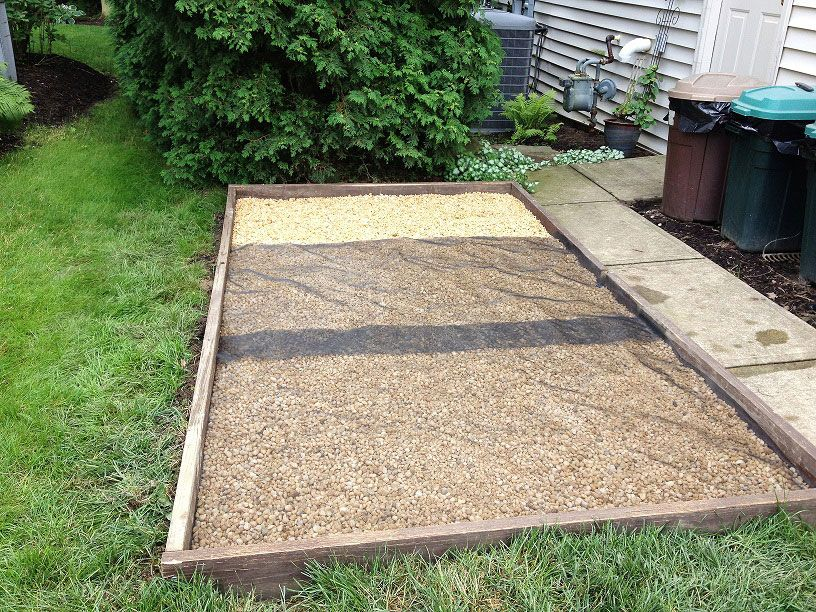 how to build an outdoor dog potty area