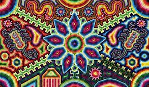 Resultado de imagem para arte huichol mexico