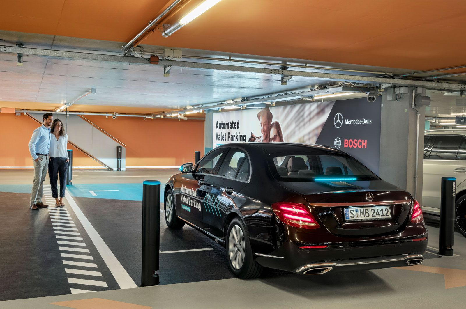 At The Mercedes Museum Your Rental Car Parks Itself Mercedes Car Parking Car Rental