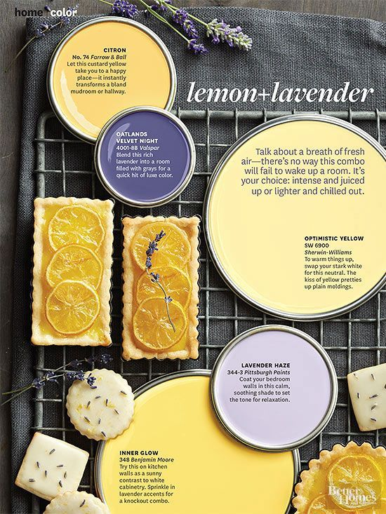 Freshen A Room With The Dynamic Duo Of Lemon And Lavender. Itu0027s A Color  Palette