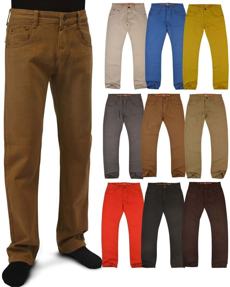 Details about Men's Casual Colored Skinny Slim Fit Denim Jeans ...