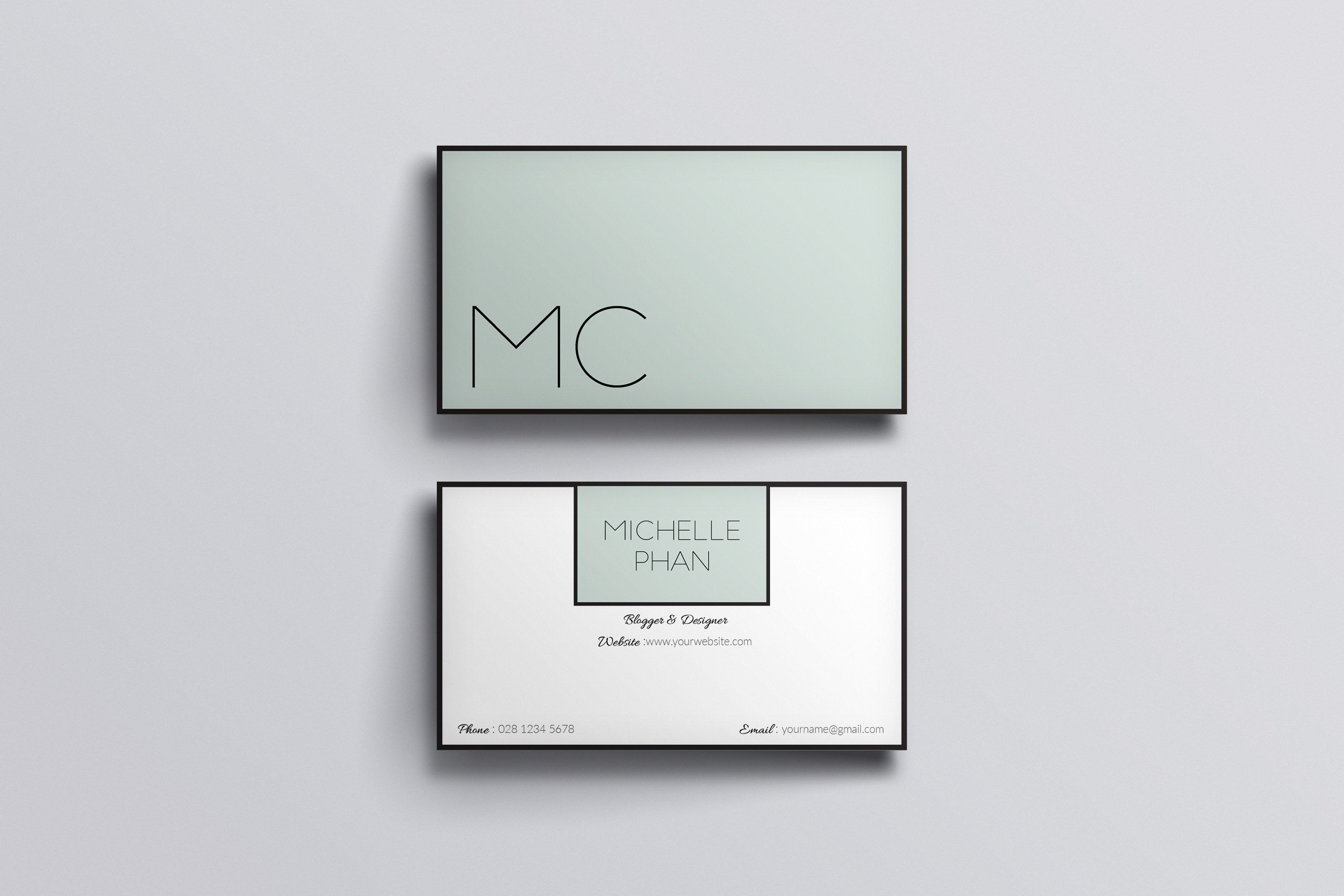 Elegant Business Card Template By Chic Templates On Creative Market