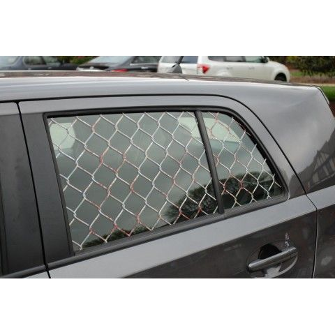 Chain link fence zombie defense window decal