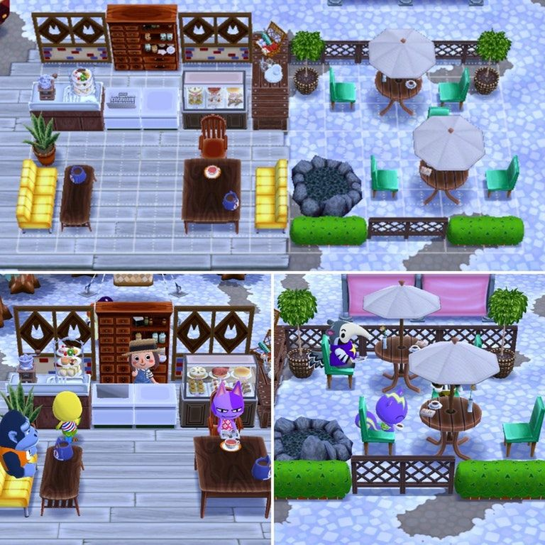 Modern Cafe And Patio Acpocketcamp Modern Cafe Animal