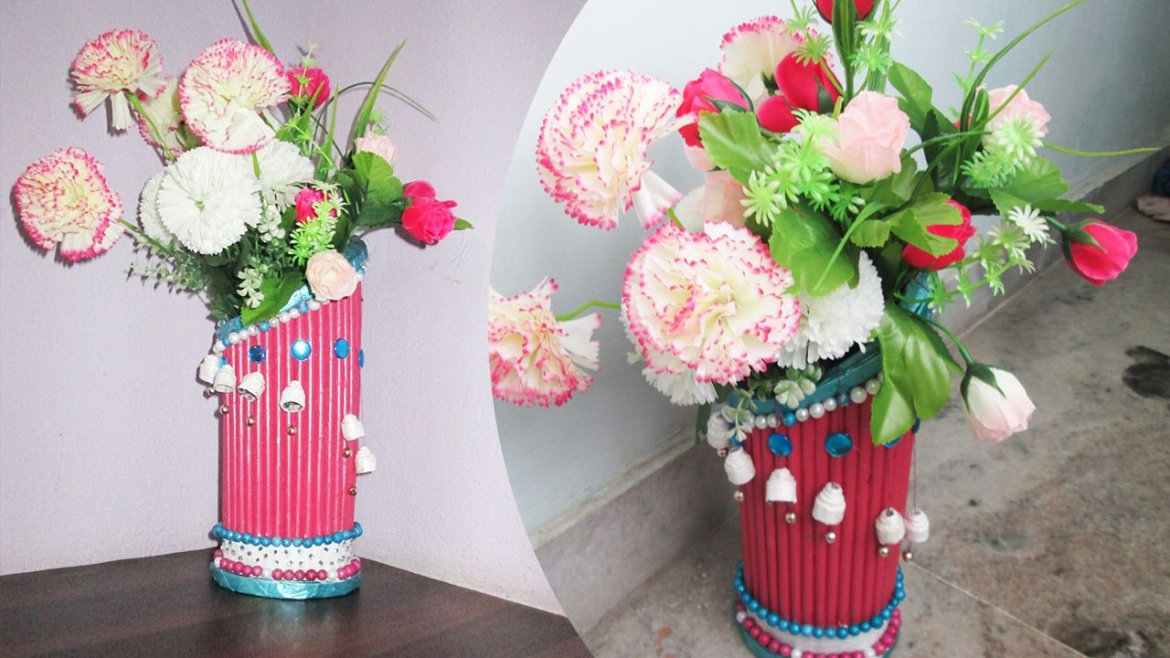 Newspaper flower vase making best out of waste with newspaper newspaper flower vase making best out of waste with newspapernewspap reviewsmspy
