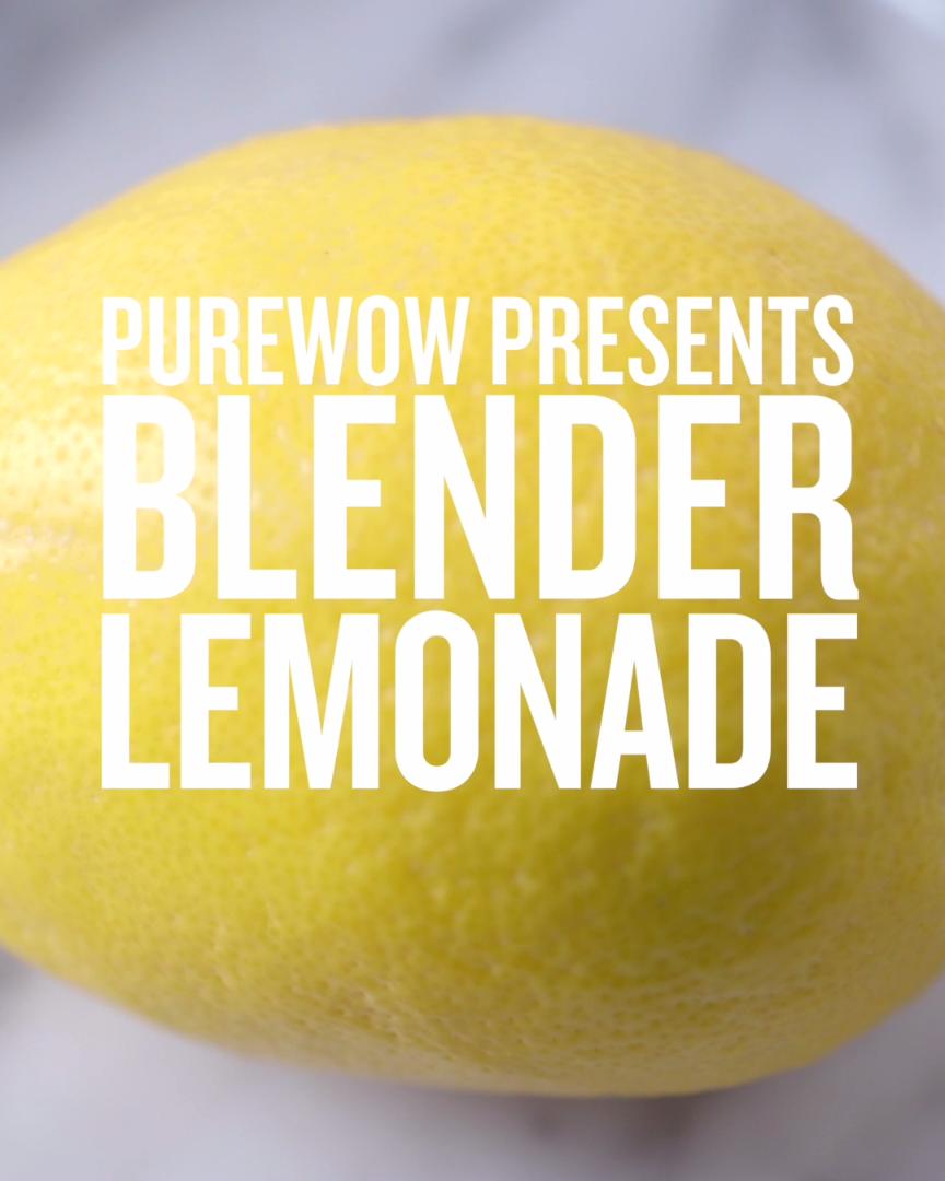 How To Make 1-Minute Blender Lemonade, The Lazy Girl's