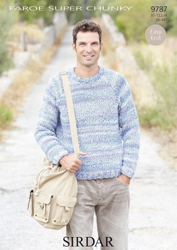 Sirdar Mens Faroe Super Chunky Sweater Knitting Pattern 9787 ...