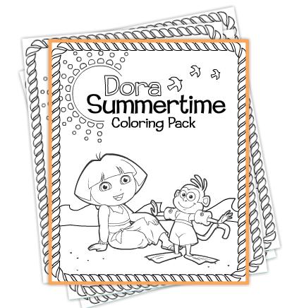 Nick Jr Dora Coloring Pages Sheets