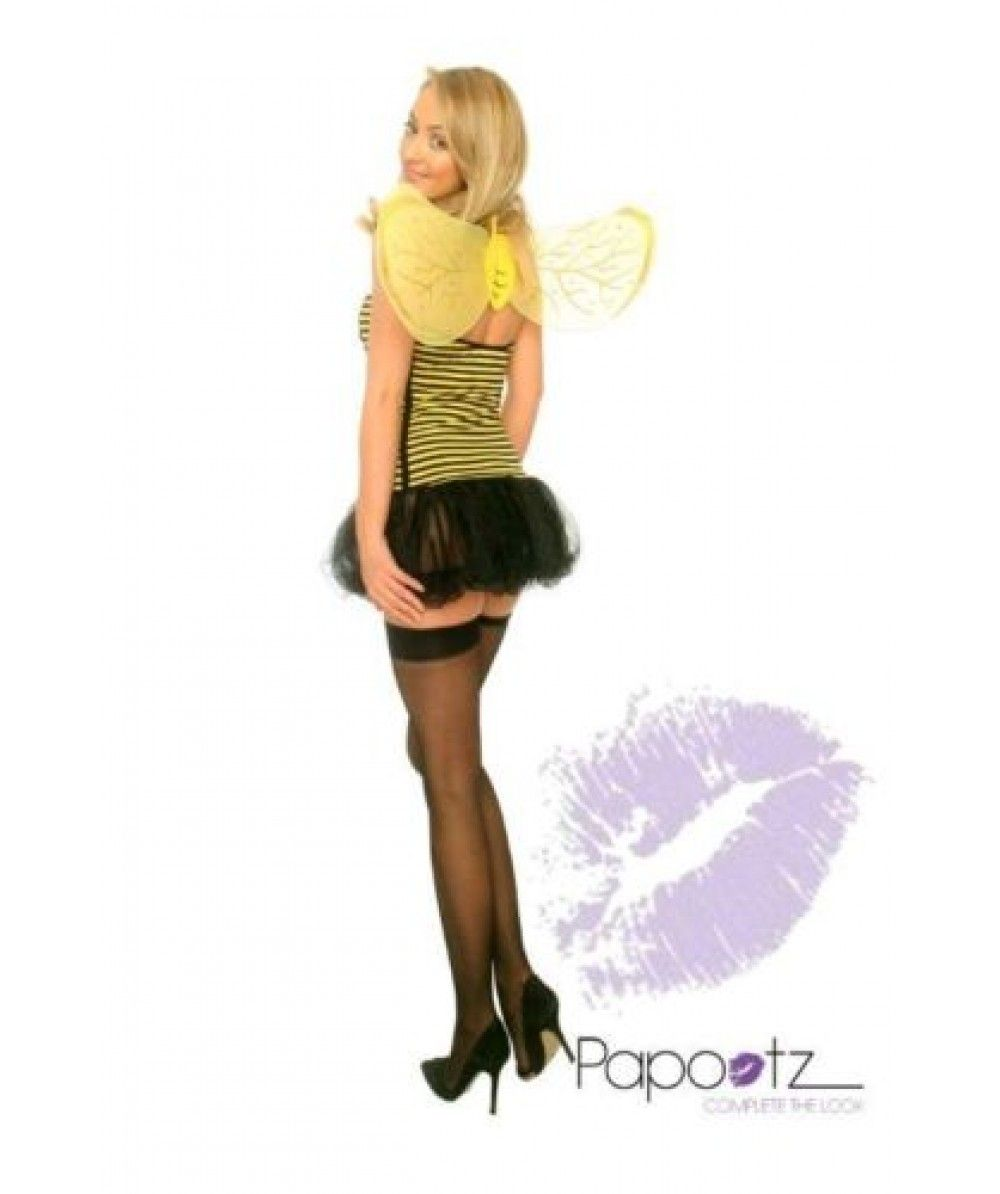Sexy Halloween Womens Bumble Bee Fancy Dress Costume Outfit 12 99