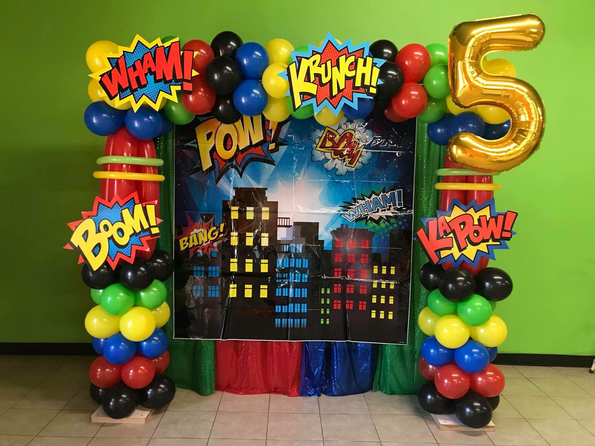 Superhero Birthday Party Superhero Birthday Party Decorations