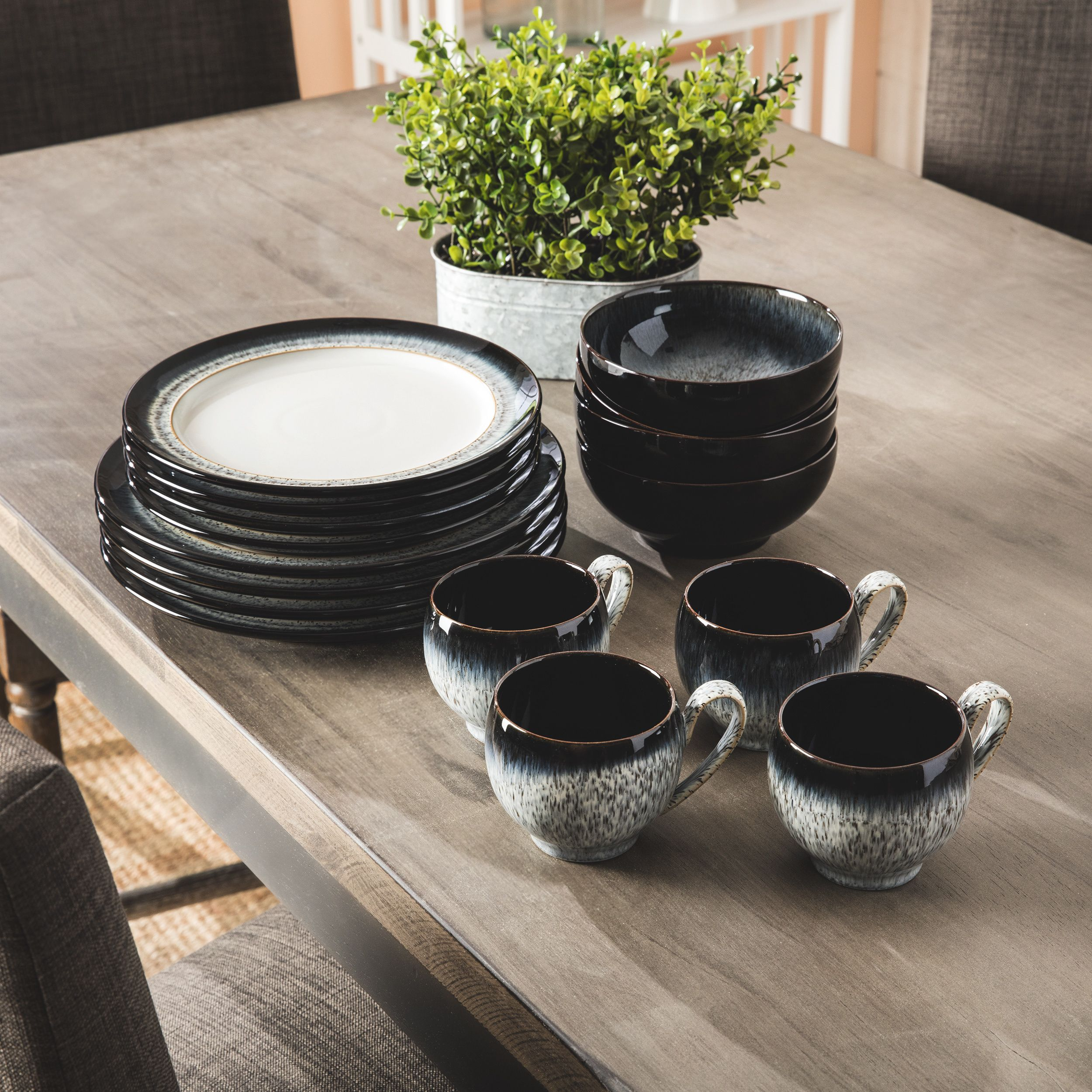 $202 Dish up your food in style with this ceramic Denby Halo 16 ...