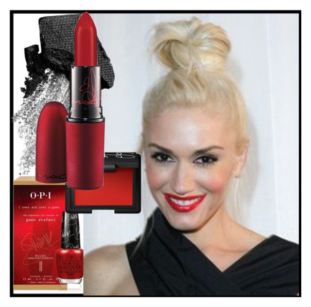 """Get the look: gwen stefani"" by ririrara ❤ liked on Polyvore featuring beauty, OPI, NARS Cosmetics, Urban Decay and MAC Cosmetics"
