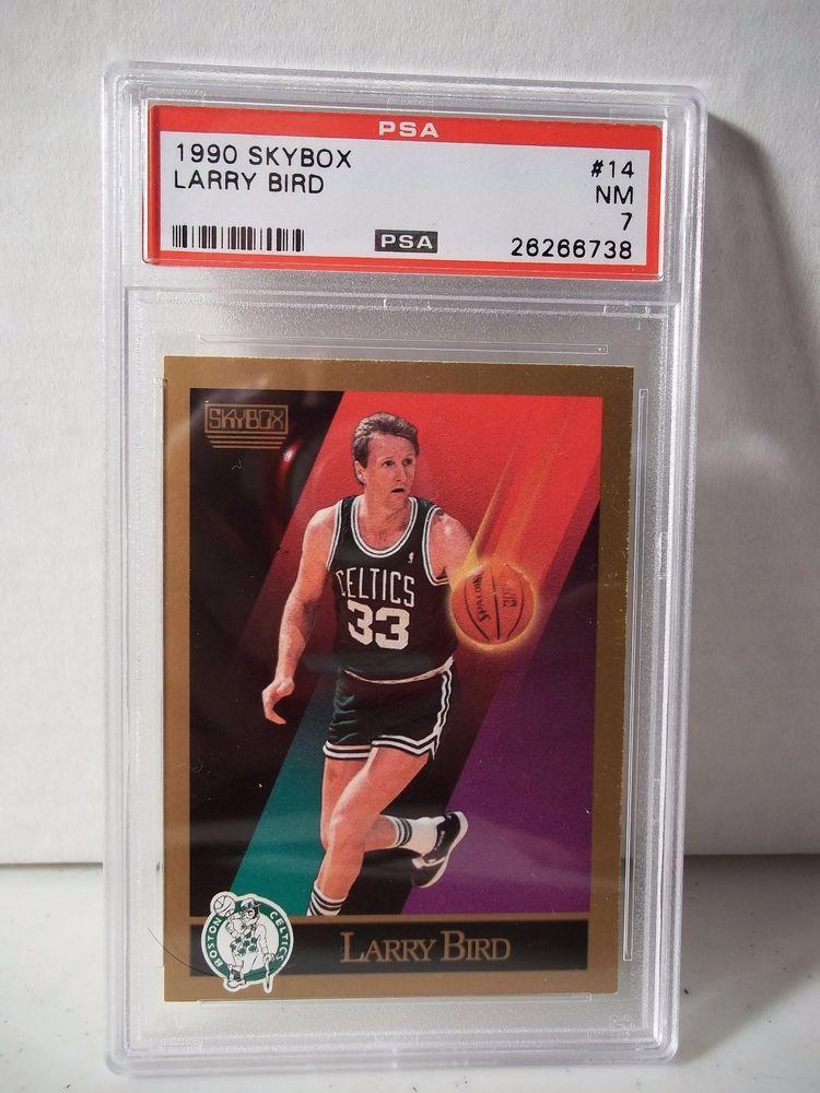 1990 skybox larry bird psa nm 7 basketball card 14 nba