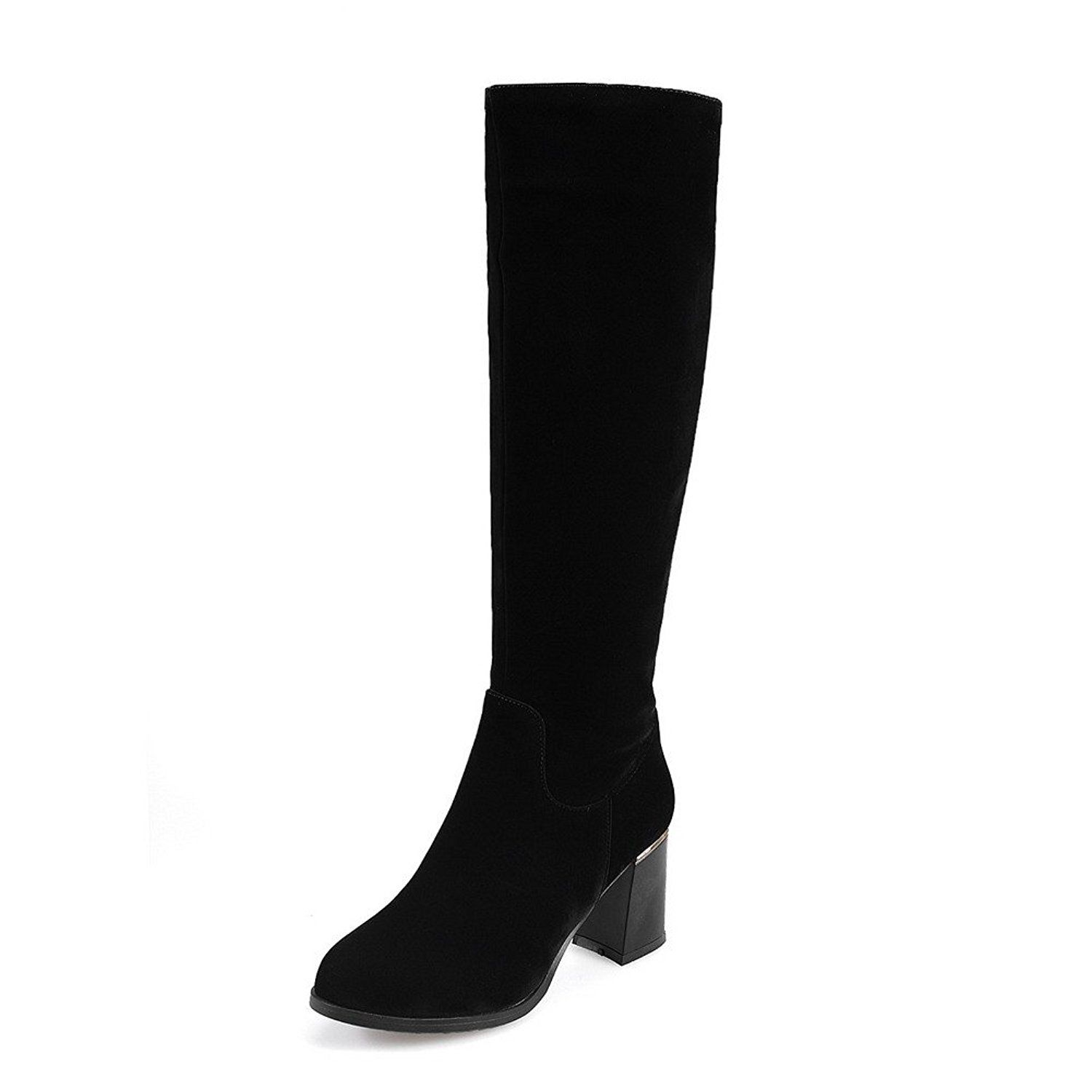 Maymeenth Women S Kitten Heels Frosted Solid Boots With Glass Diamond And Rubber Soles Details Can Be Found Kitten Heel Boots Womens Knee High Boots Boots