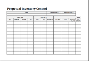 Perpetual Inventory Control Download At HttpWwwTemplateinnCom