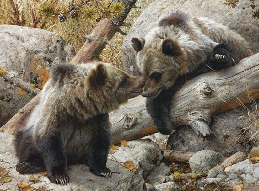 "/""Alaska Chat/"" Carl Brenders Fine Art Limited Edition Giclee Print"
