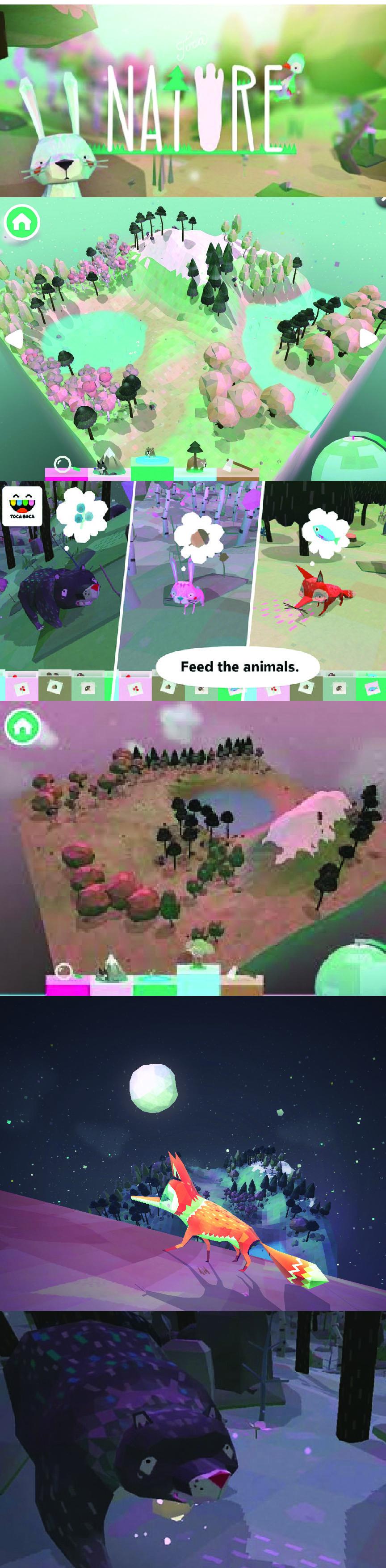 toca nature beautiful wildlife sandbox game app (With