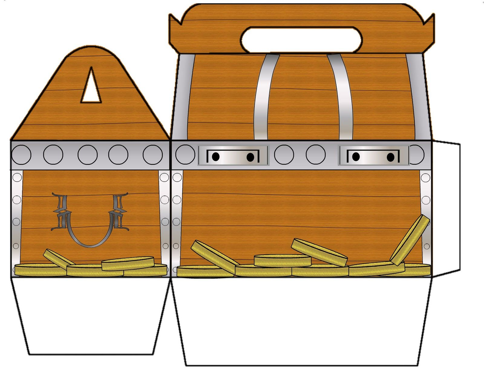 Treasure Chest Coloring Page Printable