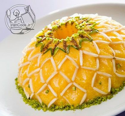 شله زرد قالبی Persian Cuisine Persian Food Iranian Cuisine
