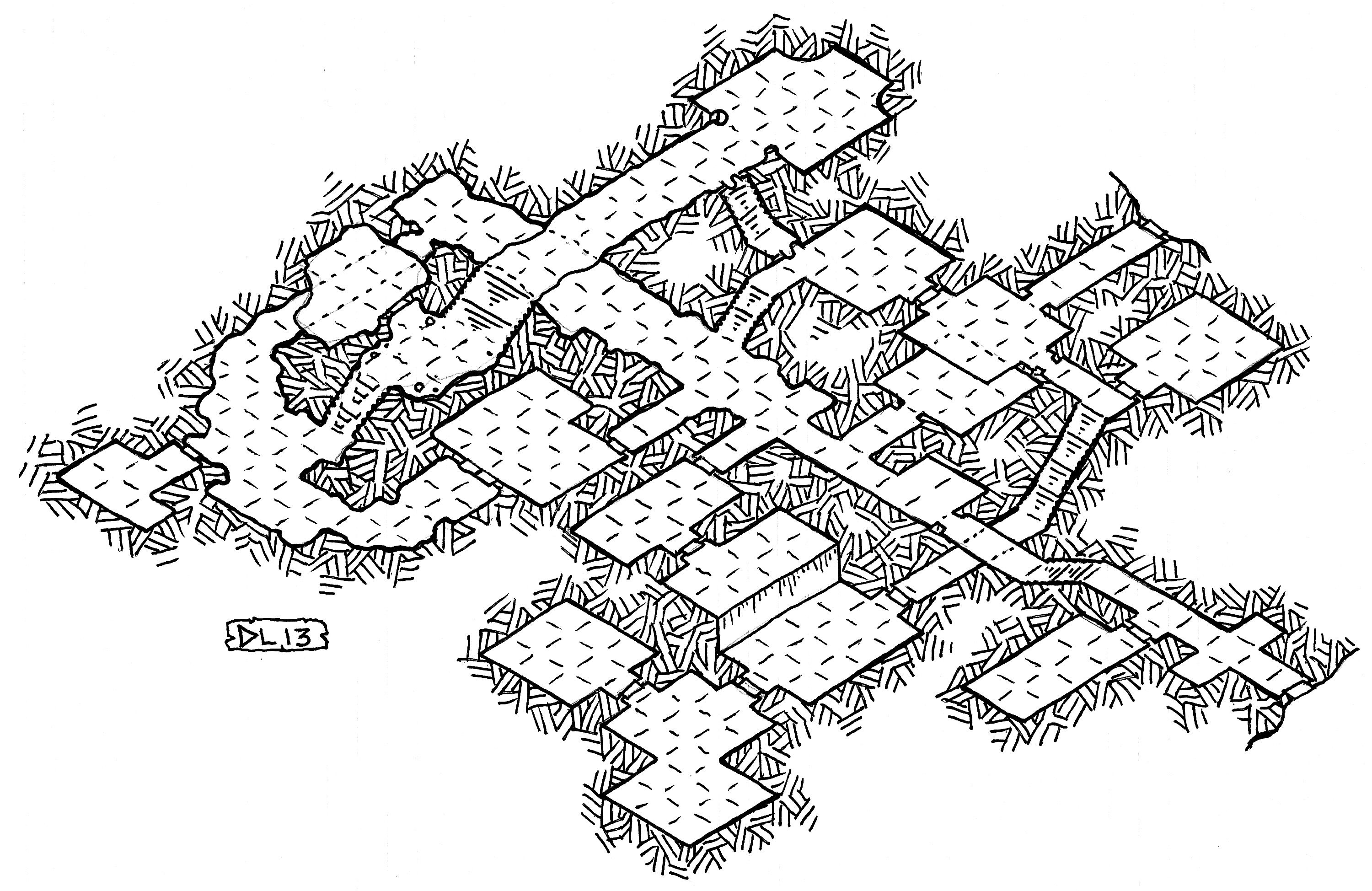 A while back I posted my OSR logo and some rough experiments I did with isometric graph paper. The same day that I drew those, I finished off with this map - a nice full-page isometric dungeon to r...