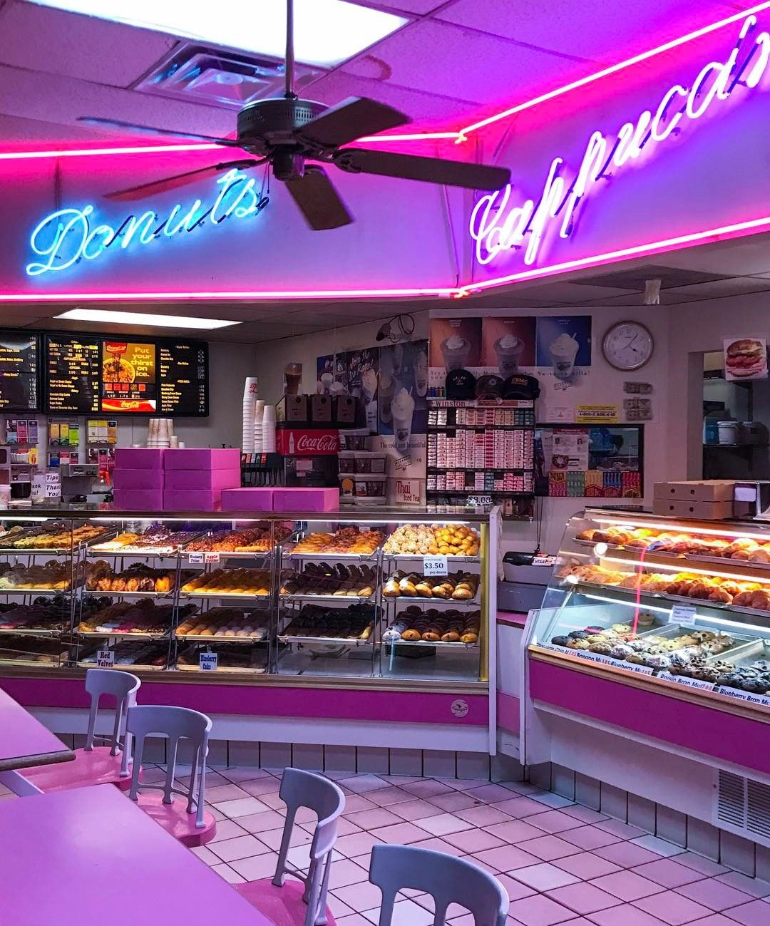 In happier news, I found this beautiful donut shop in the