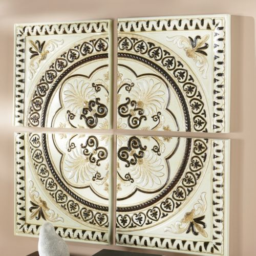 Metal Medallion Wall Art 4-piece medallion wall art from through the country door® | for