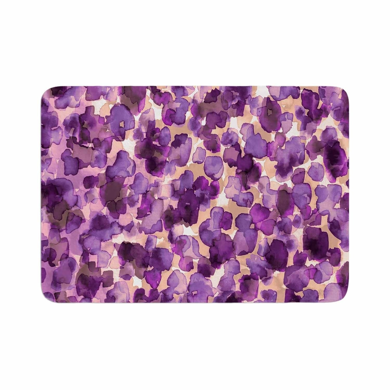 Ebi Emporium Wild Thing Purple Memory Foam Bath Mat Kess
