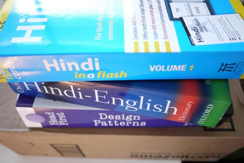 Hindi in a flash, Oxford Hindi-English Dictionary, Head First Design