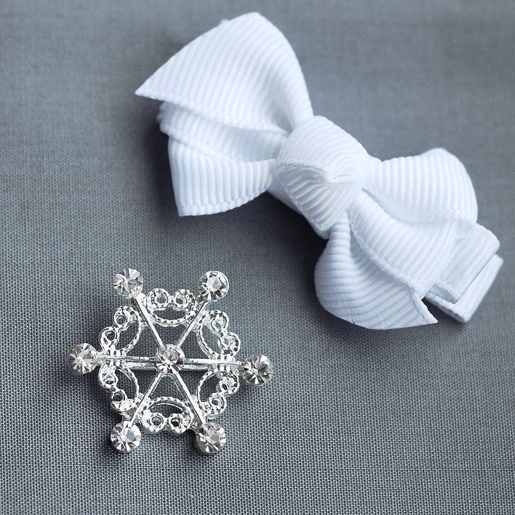 10 Rhinestone Buckle Diamante Crystal Slider 25mm Snowflake Wedding Invitation Cake Decoration Bouquet Jewelry BK059. $16.98, via Etsy.