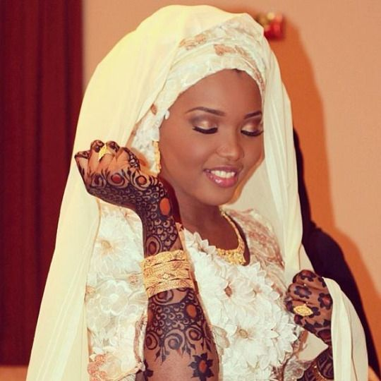 Somalian Woman With Traditional Henna Design Worn At Weddings