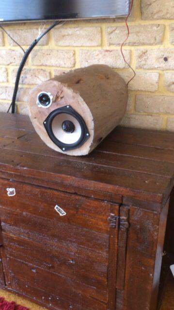 Log speakers
