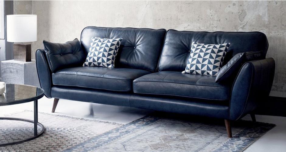 Zinc 4 Seater Sofa Best Leather Sofa Blue Leather Sofa Leather Sofa