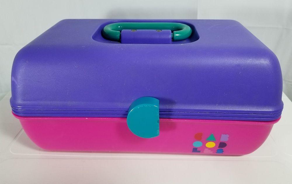 Caboodle Storage Case Vintage Purple Pink 1980s 1990s All Parts