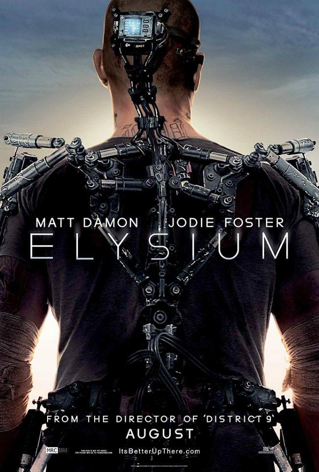 Elysium Official Trailer And Movie Poster Filmes Capas De