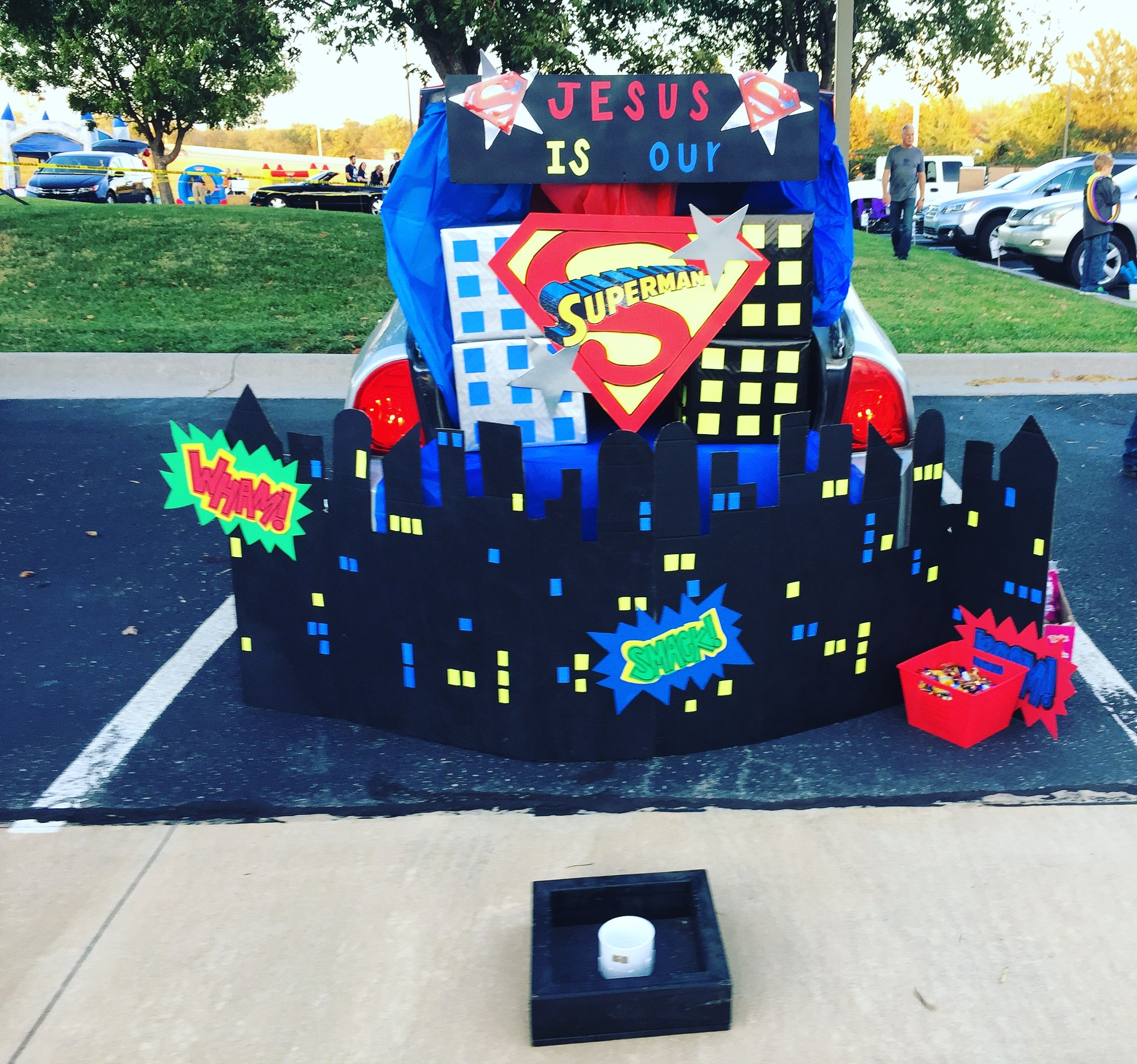 Superman Trunk Or Treat Superhero Halloween Trunk Or Treat