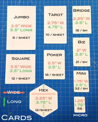 Custom Card Sizes Produced At The Game Crafter Tarot Learning Diy Tarot Cards Tarot