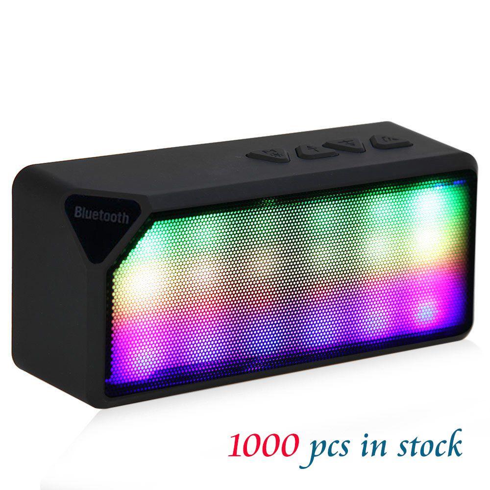 Bluetooth Lautsprecher Mini Speaker Musik Box FM Radio USB AUX Soundbox Mit LED