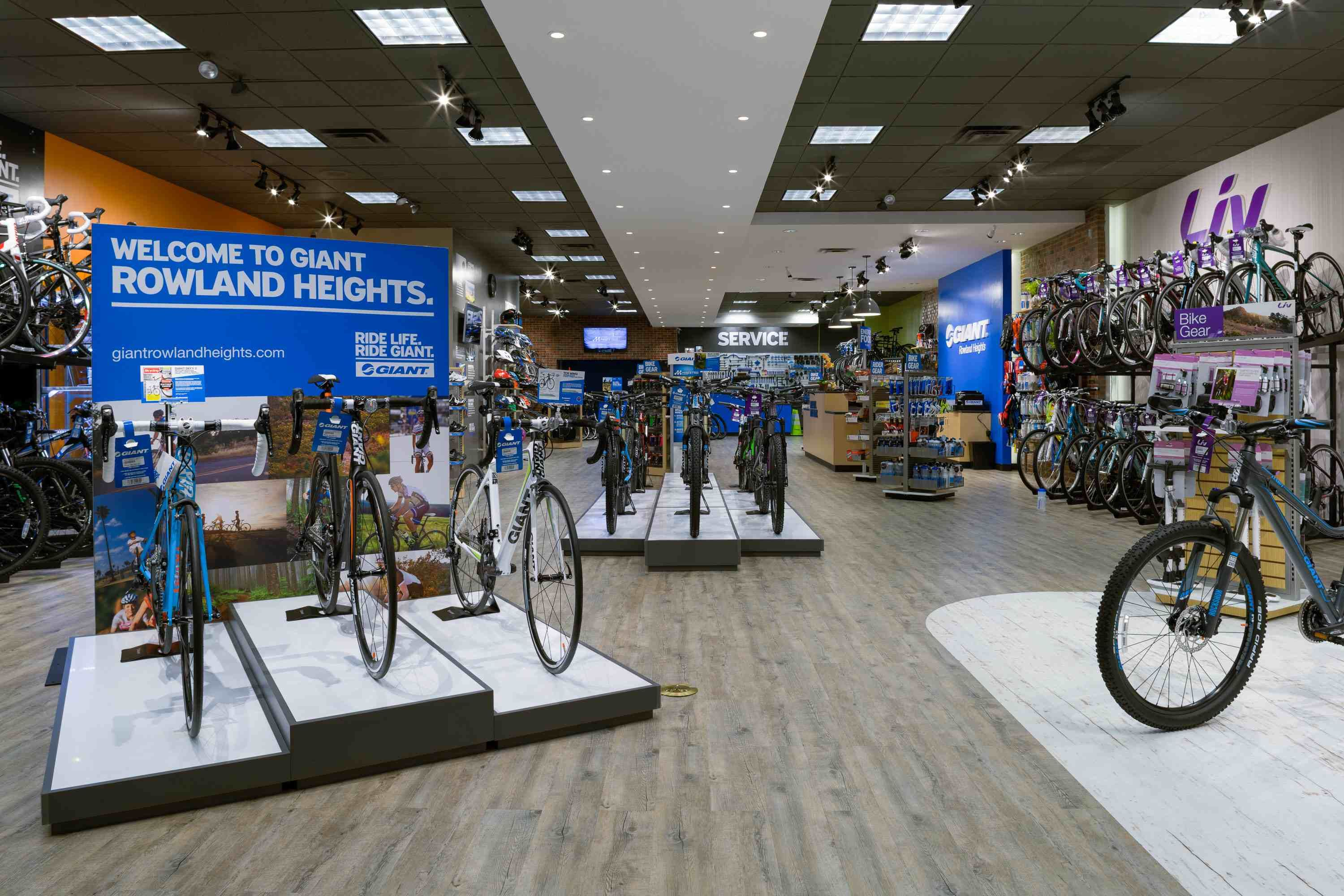 The Giant Partner Store Stocks Bikes And Accessories From Giant And Liv Jpg 3000 2000 Bicycle Store Bike Store Bicycle Shop