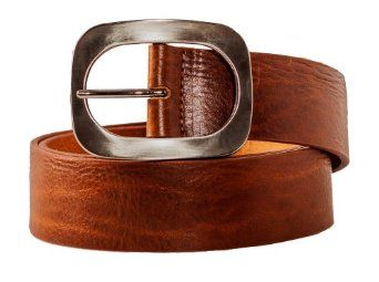 Ladies High End Premium Leather Vintage Fashion Belt Tan