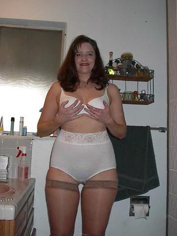 Mature women wearing brief panties