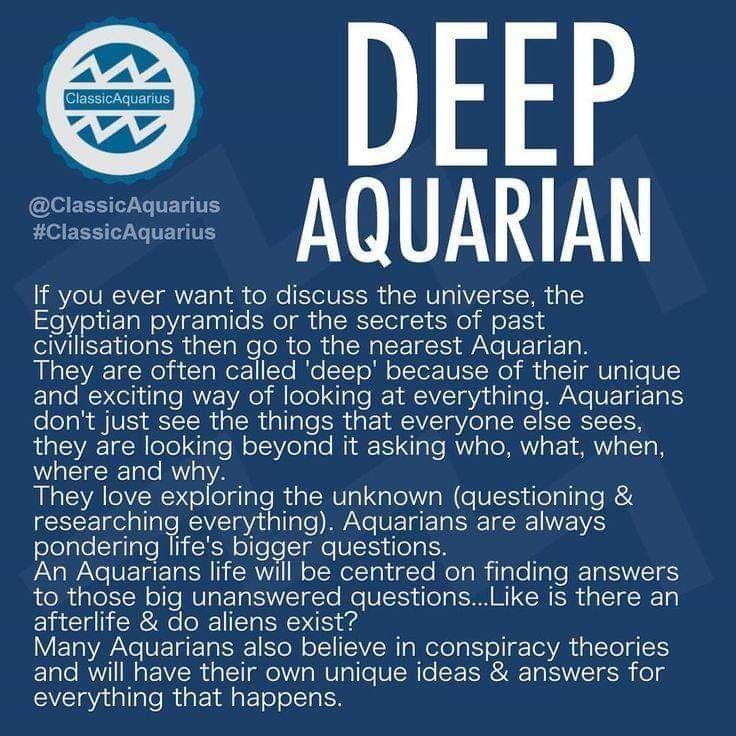 Pin on Aquarius life