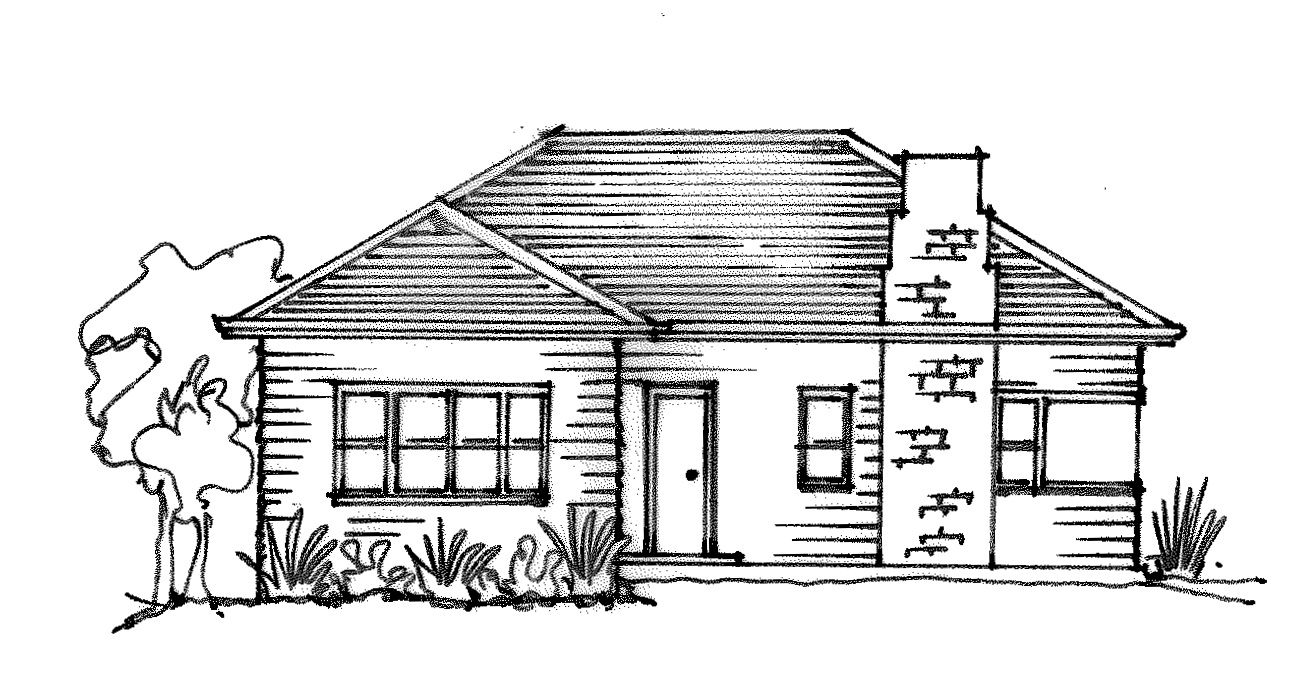 Weatherboard House Sketch Renovations Simple House Design