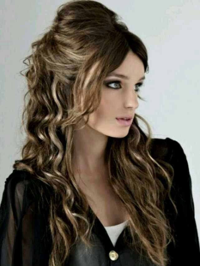 Half hair puff and girls | Formal hairstyles for long hair ...