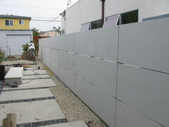 Hardy Backer Board Fence Fence Design Concrete Fence Front Wall Design