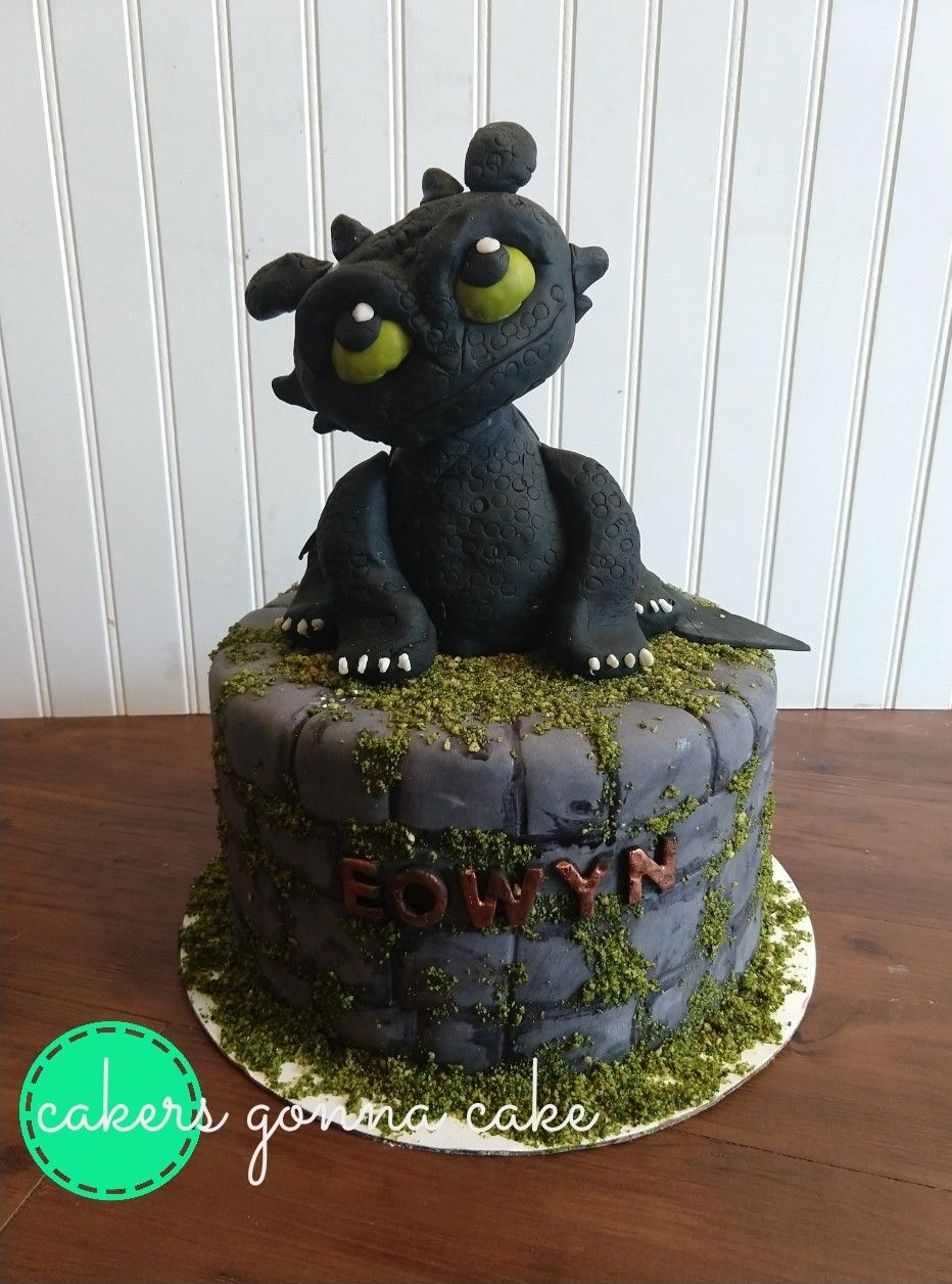 A How To Train Your Dragon Cake For A Sweet Little Girl Toothless