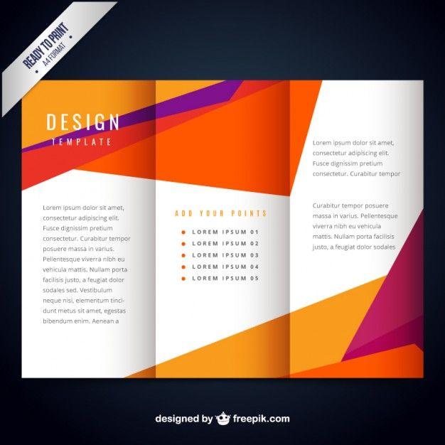 Molde do folheto moderno colorido Brochures, Brochure template - free brochure design templates word