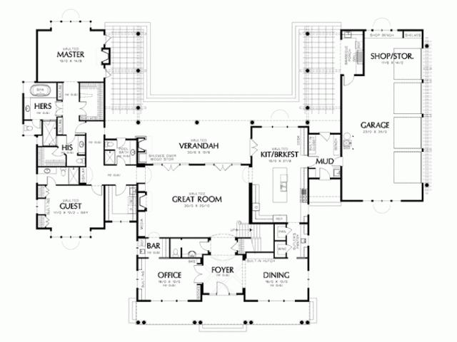U Shaped House Plans Pool 1qa
