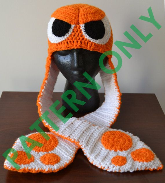 Crochet Splatoon Squid Hat **PATTERN ONLY*** | Crocheting | Pinterest