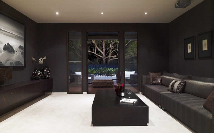 Sleek Media Room Http Www Metricon Com Au Getmedia 725360dc 4e74 40c4 B49b 7998e2632e4e Imper Home Cinema Room Media Room Paint Colors Home Theater Rooms